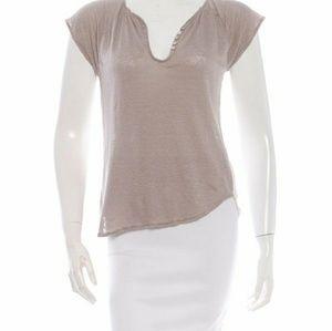 ULLA JOHNSON Silk Short Sleeve Top Small Petite